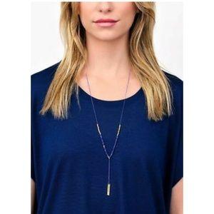 Gorjana Jewelry - Gorjana power gemstone blue lapis & gold necklace